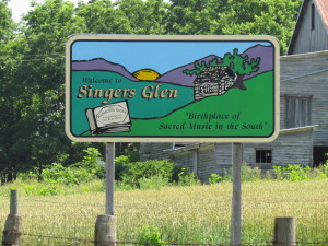 Music Sign, Singers Glen, Virginia, 2013
